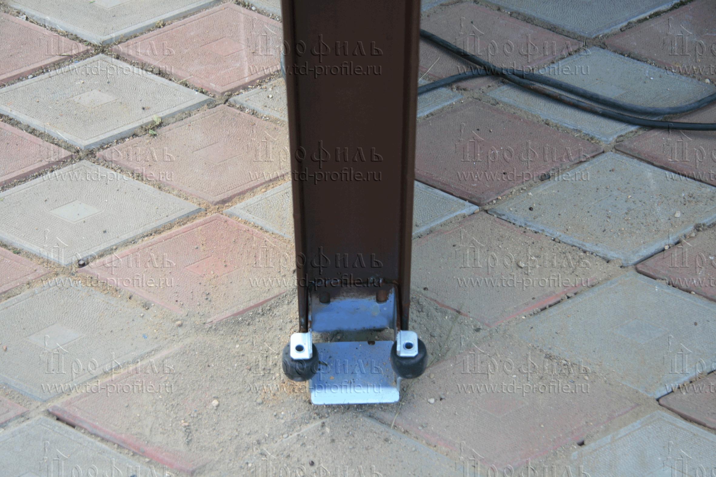 откатные ворота на винтовых сваях под ключ в спб