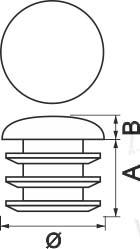 чертеж заглушки